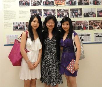 2011年被哈佛大学录取的Linda Zhang 和Lydia Ding奥校给家长和孩子们做关于美国大学申请的讲座,并为ORBIS筹款